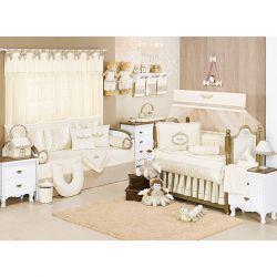 Coleção Completa para Quarto de Bebê Imperial Palha - 30 Peças