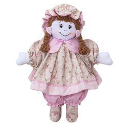 Boneca decorativa para Quarto Bebê Coleção Lacinhos Baby - Rosa