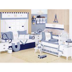 Coleção Completa para Quarto de Bebê Majestade Marinho - 32 Peças