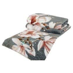Cobertor Casal Manta de Microfibra 01 Peça (Toque Aveludado) Estampado - Cor 2 Cinza