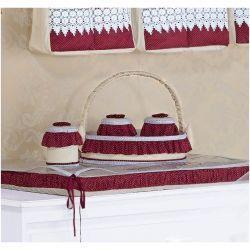 Kit Acessórios com Abajur, Cesta e Potes - Coleção Marsala