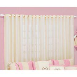 Cortina p/ Quarto de Bebê 2 Metros - Coleção My Princess Rose