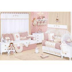 Coleção Completa para Quarto de Bebê Nina Camponesa - 32 Peças