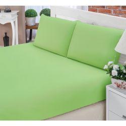 Jogo de Lençol Casal Padrão Liso Pati 03 Peças Tecido Microfibra - Verde