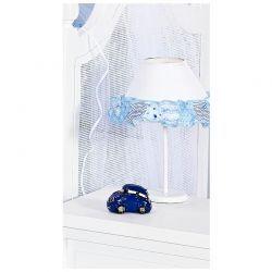 Kit Acessórios com Abajur, Cesta e Potes Coleção Pedrinho - Azul