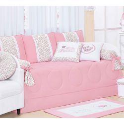 Kit Cama Babá 08 Peças Coleção Princesinha Baby 100% Algodão Rosa