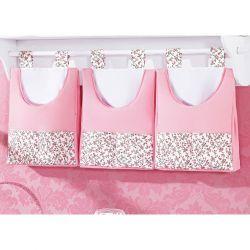 Porta Fraldas de Varão - Coleção Princesinha Baby Rosa