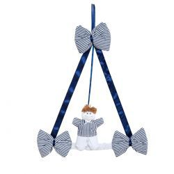 Enfeite de Porta para Quarto de Bebê Coleção Realeza Marinho - Azul