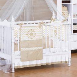 Coleção Completa para Quarto de Bebê Coleção Royalty Caqui 22 Peças