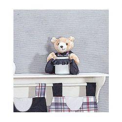 Porta Cotonete Urso Enfeitado - Coleção Sailor - 39cm - 01 Peça - Rosa