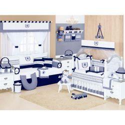 Coleção Completa para Quarto de Bebê Versailles - 33 Peças
