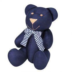 Enfeite Decorativo Urso G Coleção Versailles 30cm - Marinho