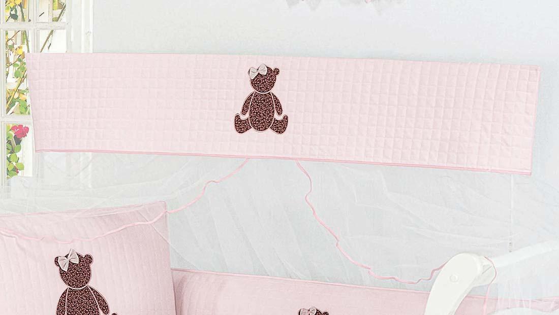 Mosquiteiro Varal Interno Padr�o Americano - Cole��o Urso Charme - 100% Algod�o