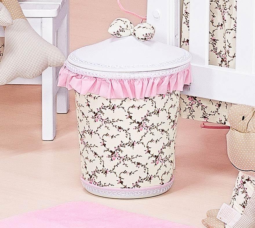Lixeira Enfeitada - Coleção Balerina - Rosa