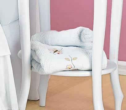 Jogo de Banho para Bebê 02 Peças - Coleção Jardim das Flores - 100% Algodão - Rosa