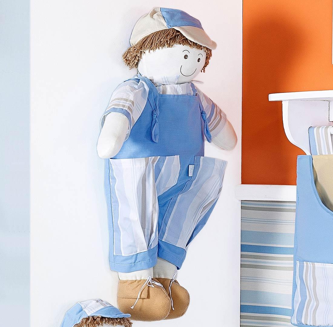 Porta Fraldas Boneco - Coleção Aventura - Azul