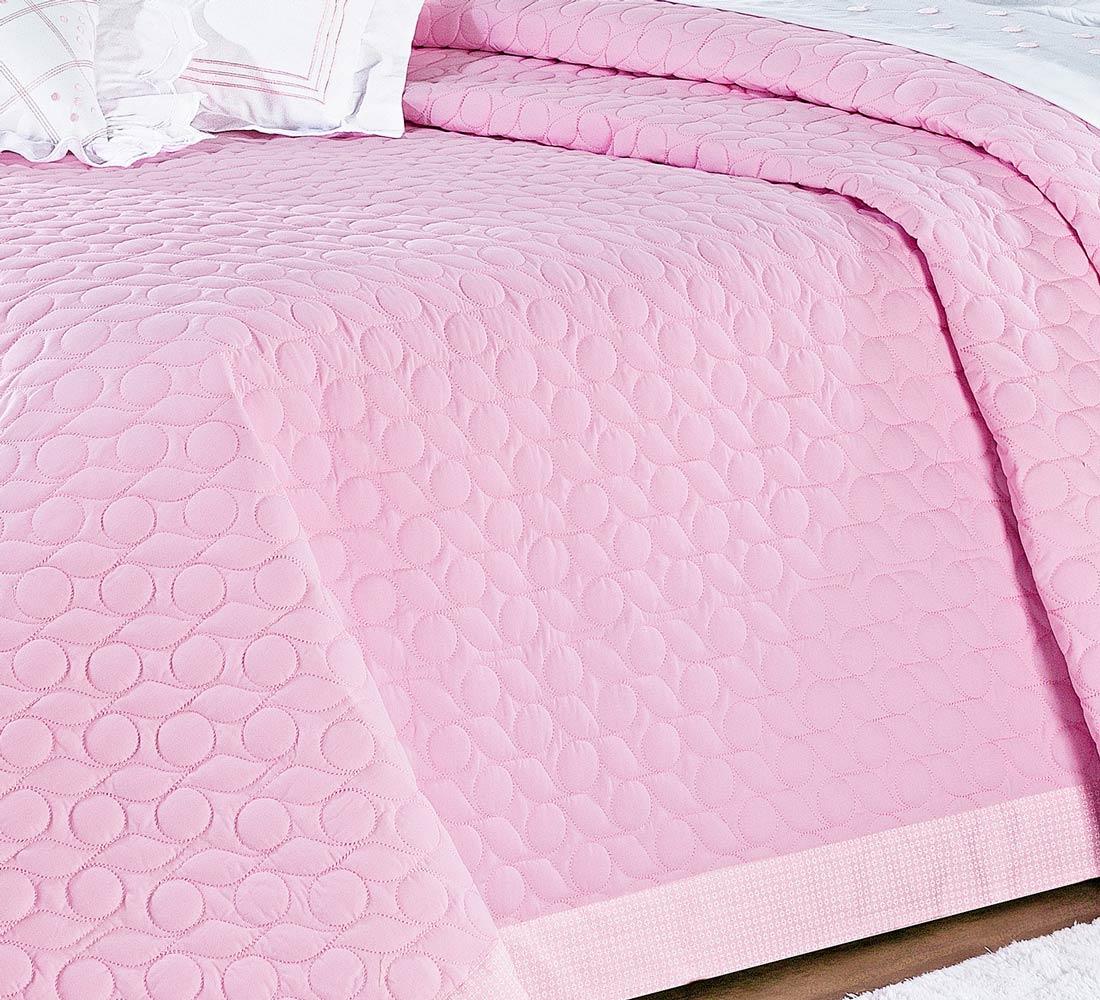 Cobre Leito Casal Queen Lacca 03 Peças - 100% Algodão 200 Fios - Rosa