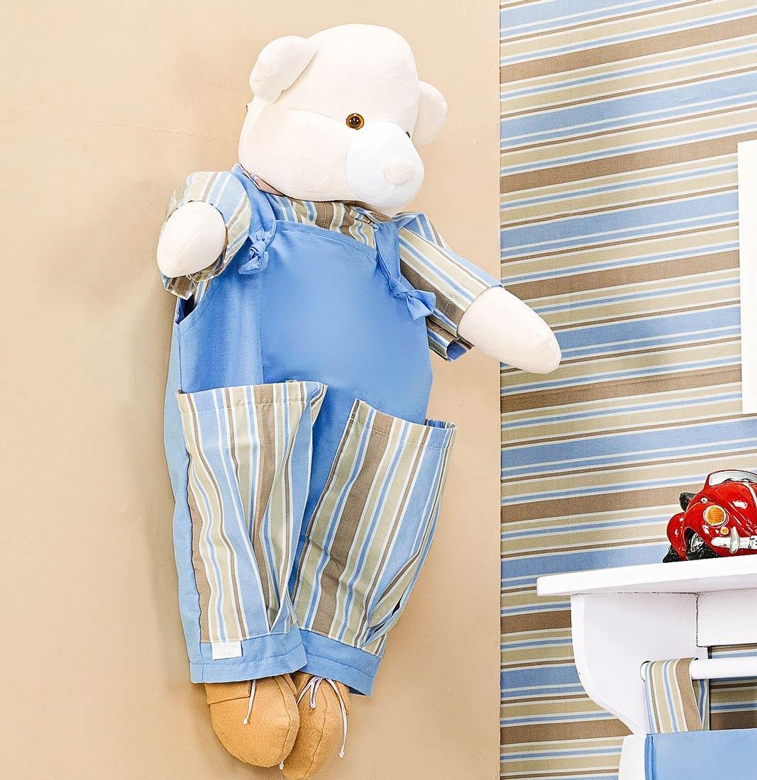 Porta Fraldas Boneco - Coleção Théo - Azul - 70cm alt.