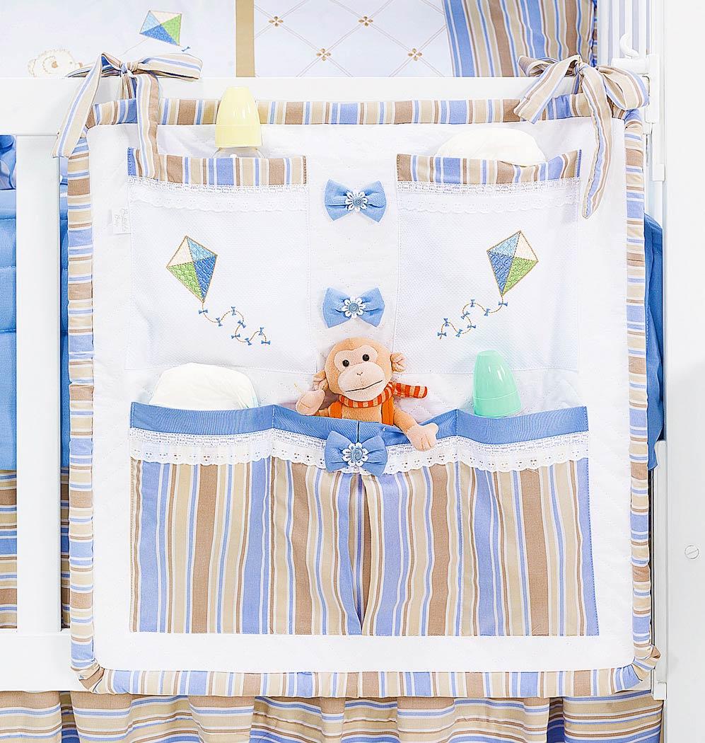 Porta Treco para Bebê - Coleção Théo - Azul