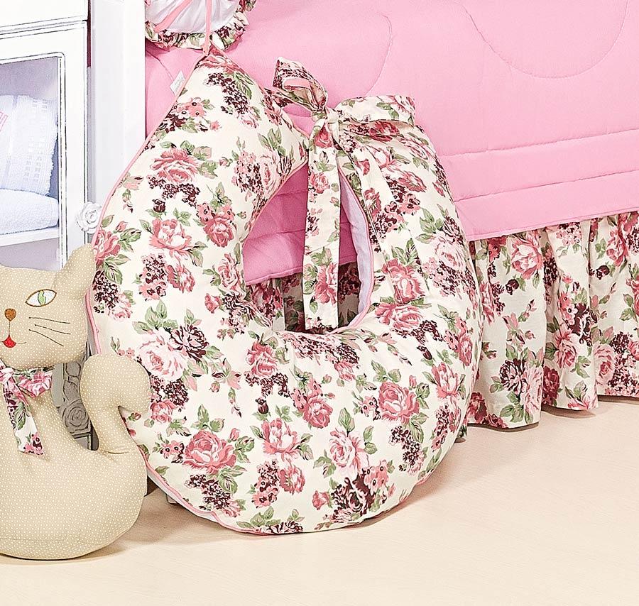 Apoio para Amamentar - Coleção Princess - 100% Algodão - Siliconado - Rosa