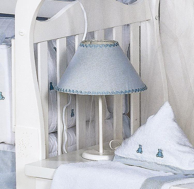 Abajur Enfeitado - Coleção Luxo - Azul