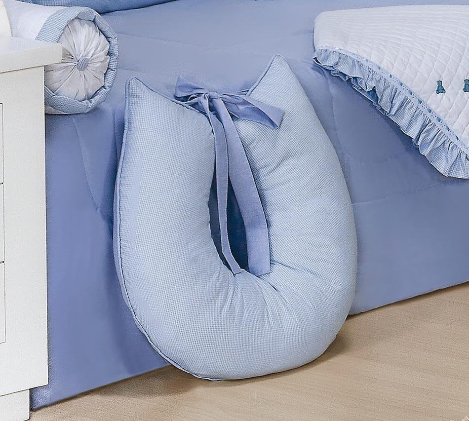 Apoio para Amamentar - Coleção Luxo - 100% Algodão - Siliconado - Azul