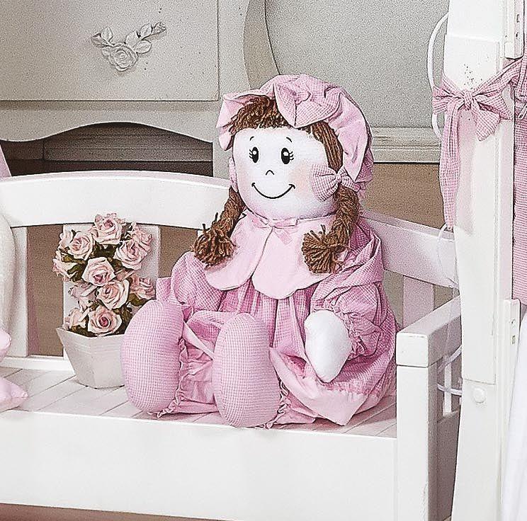 Almofada Boneca Tamanho Irregular - Coleção Luxo - 100% Algodão - Rosa