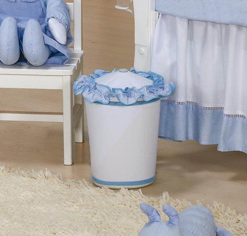Lixeira Enfeitada - Coleção Luxo - Azul