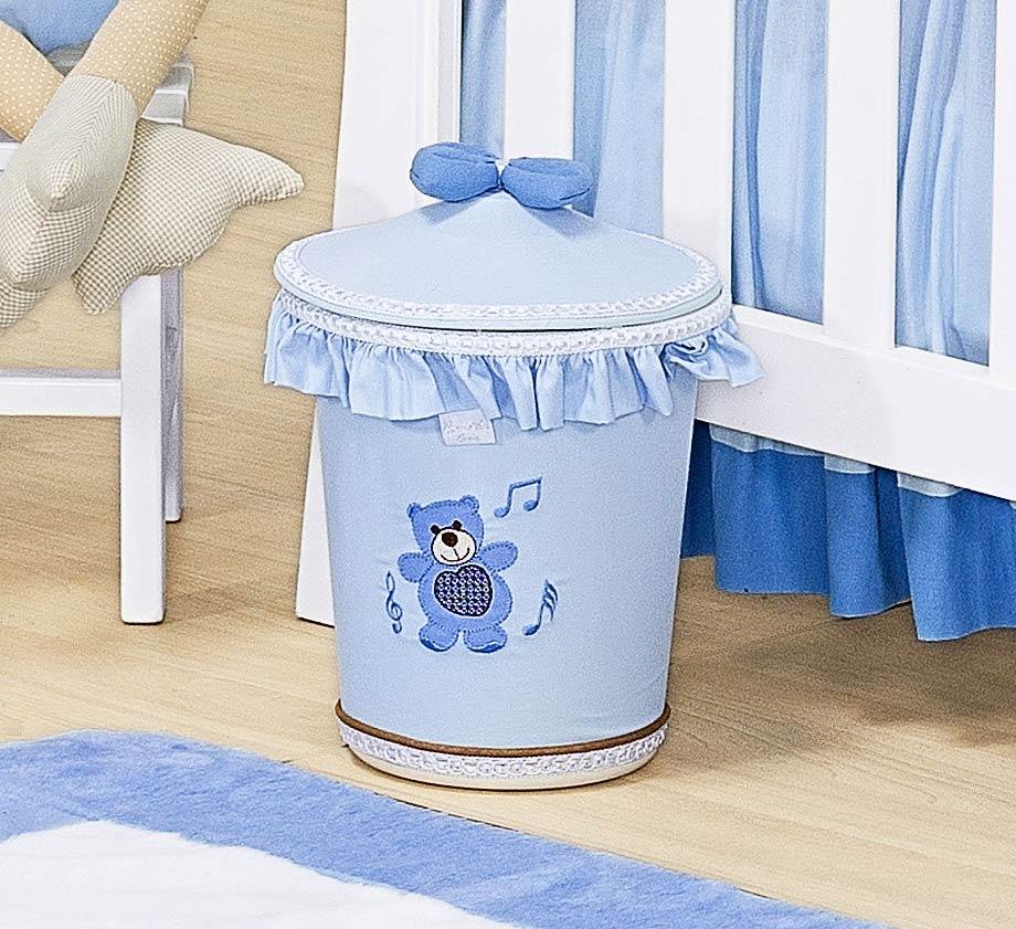 Lixeira Enfeitada - Cole��o Little Bears - Azul