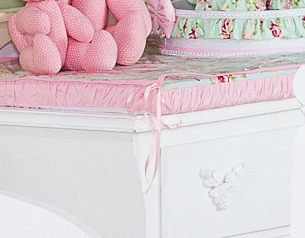 Trocador Avulso de Espuma Emplastificado - Coleção Candy - 100% Algodão - Rosa