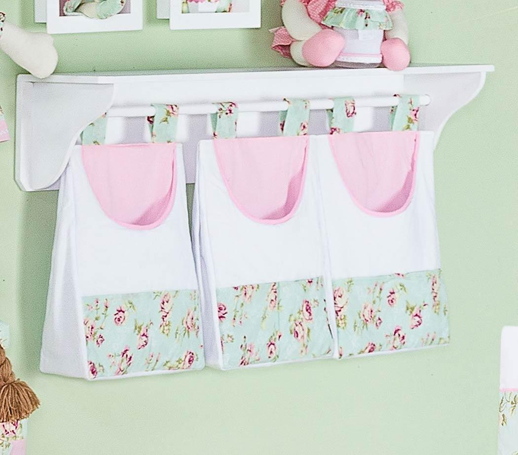 Porta Fraldas de Varão 03 Peças - Coleção Candy - Rosa