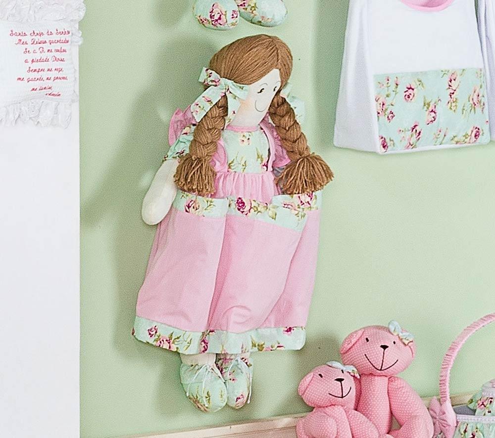 Porta Fraldas Boneca - Coleção Candy - Rosa - 70cm alt.