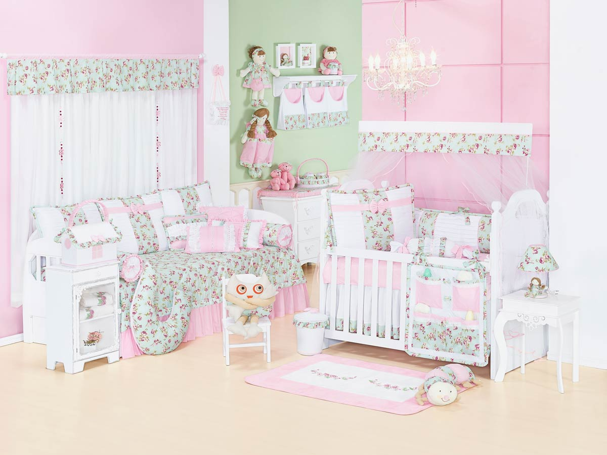 Nicho Decorado 02 Peças - Coleção Candy - Rosa