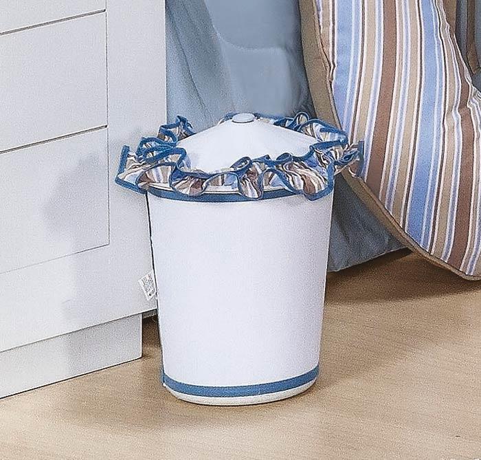 Lixeira Enfeitada - Coleção Baby Kids - Azul