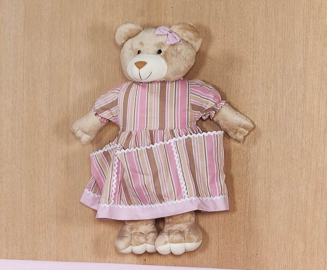 Porta Fraldas Urso - Coleção Baby Kids - 70cm alt. Aprox. - Rosa