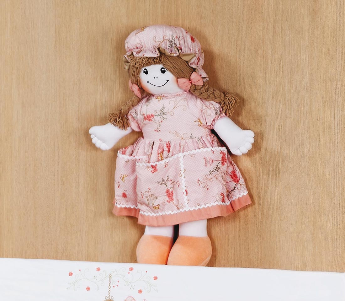 Porta Fraldas Boneca - Coleção Primavera Kids - 70cm alt. Aprox.