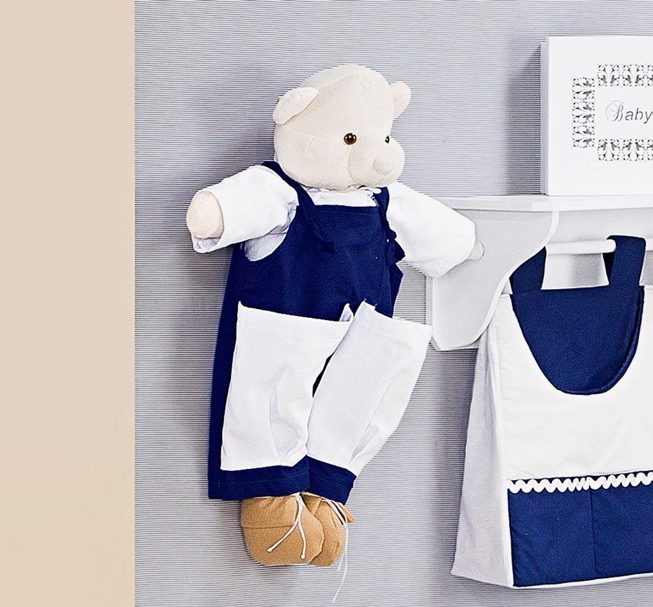 Porta Fraldas Urso - Coleção Monarchy Marinho - 70cm alt.