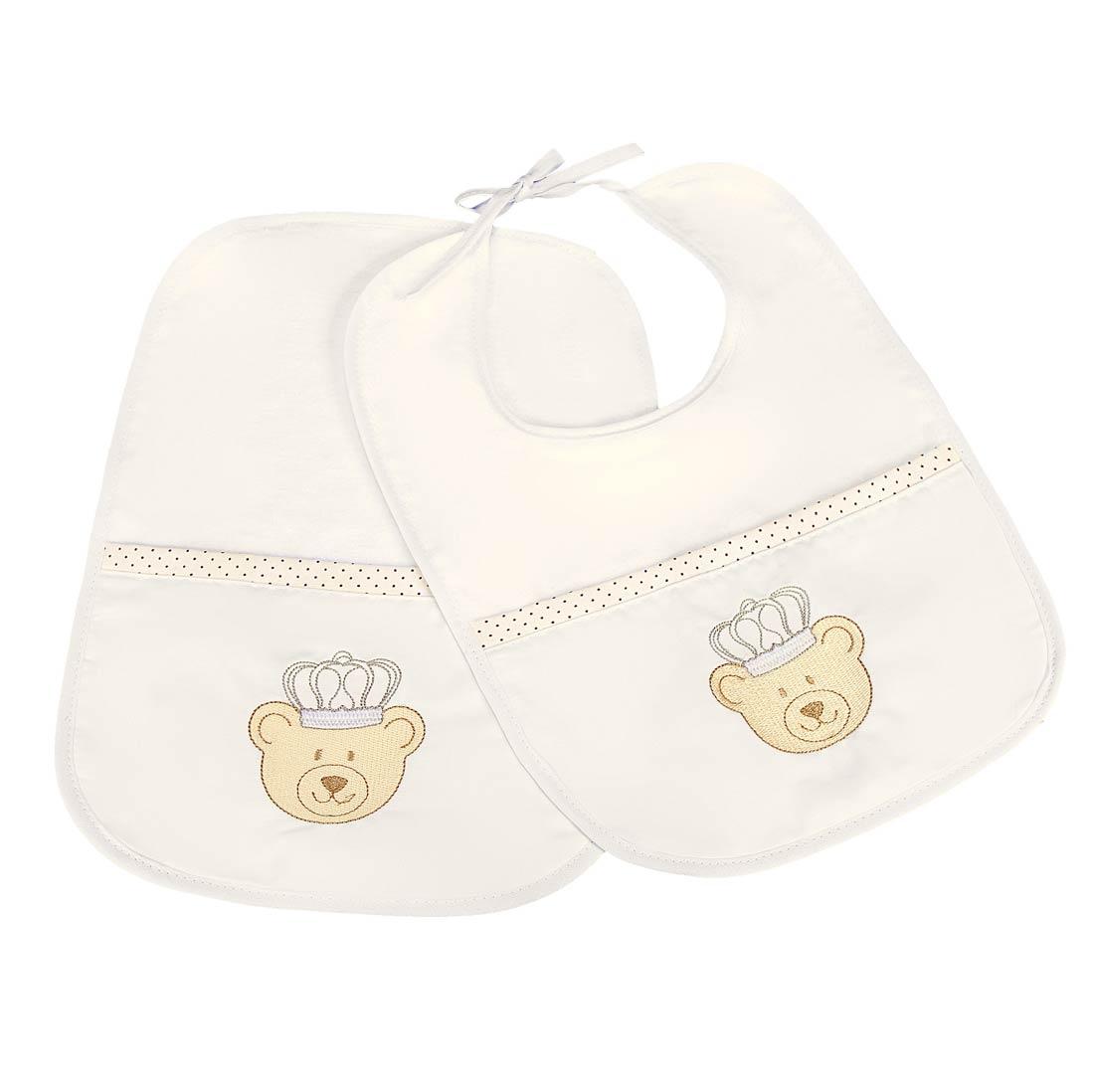 Papeiro e Babador para Beb� Nino Azul - 02 Pe�as