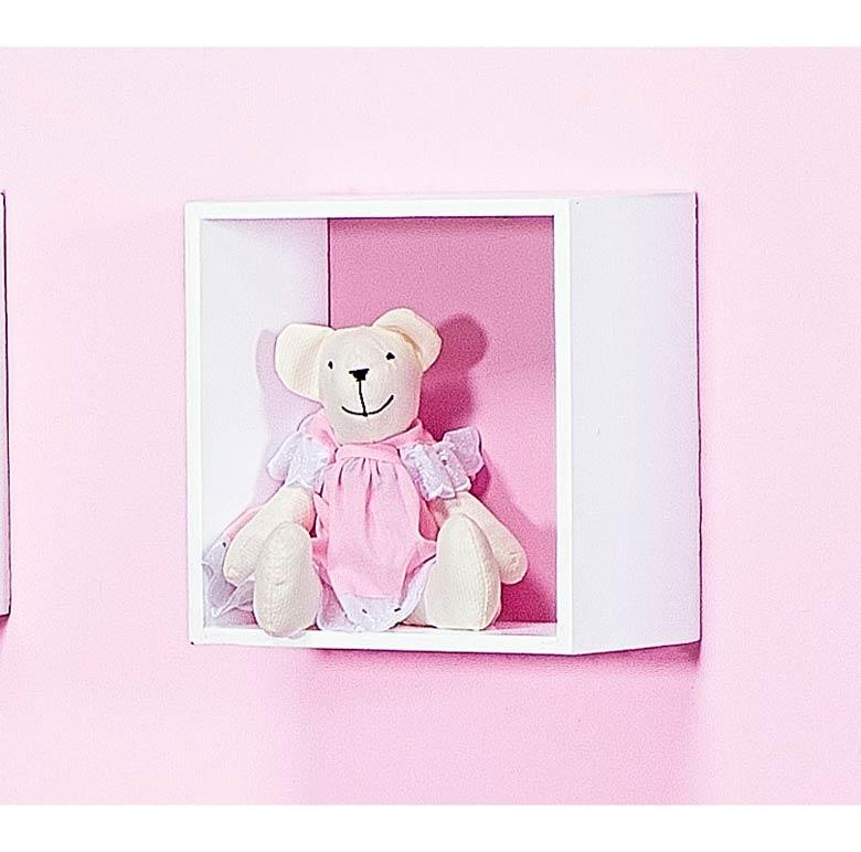 Enfeite Decorativo �Urso P� - Cole��o Nina Rosa - 18cm alt.
