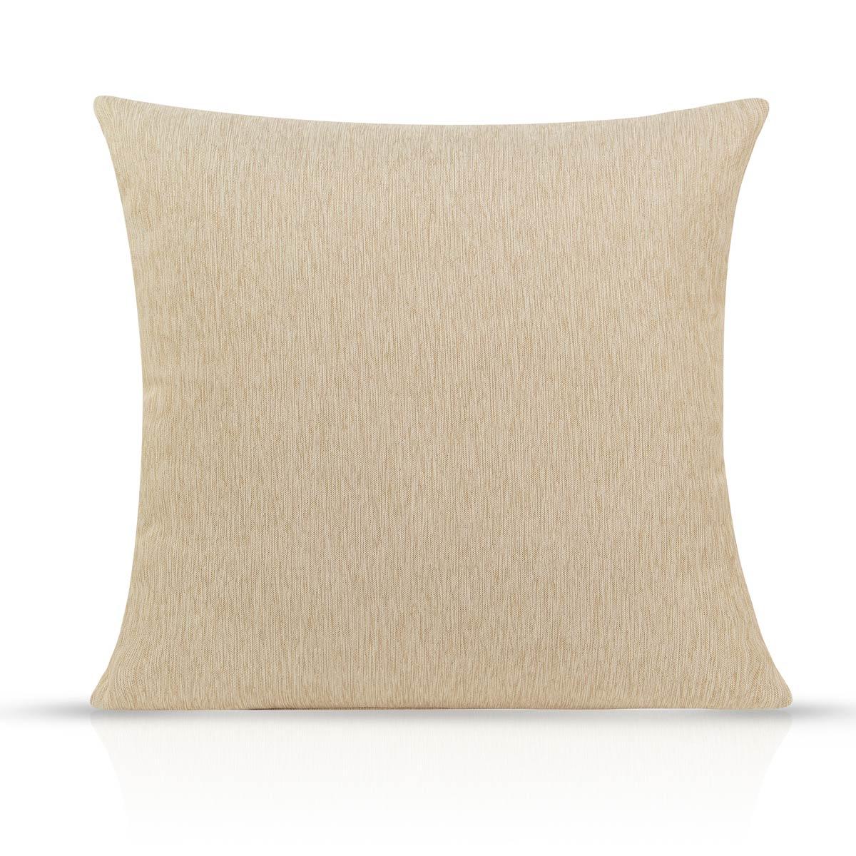 Almofada Desert com Enchimento - Tecido Blackout em Tecido - Bege
