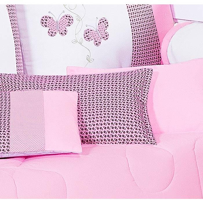 Almofada Decorativa Estampada - Cole��o Borboletinhas - 100% Algod�o - 45cm x 30cm