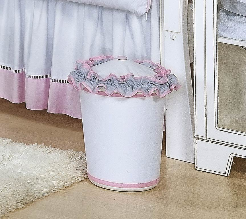 Lixeira Enfeitada - Coleção Princesa Kids - Rosa