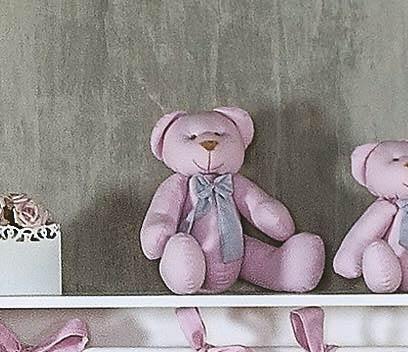 Enfeite Decorativo ´Urso G´ - Coleção Princesa Kids - 30cm