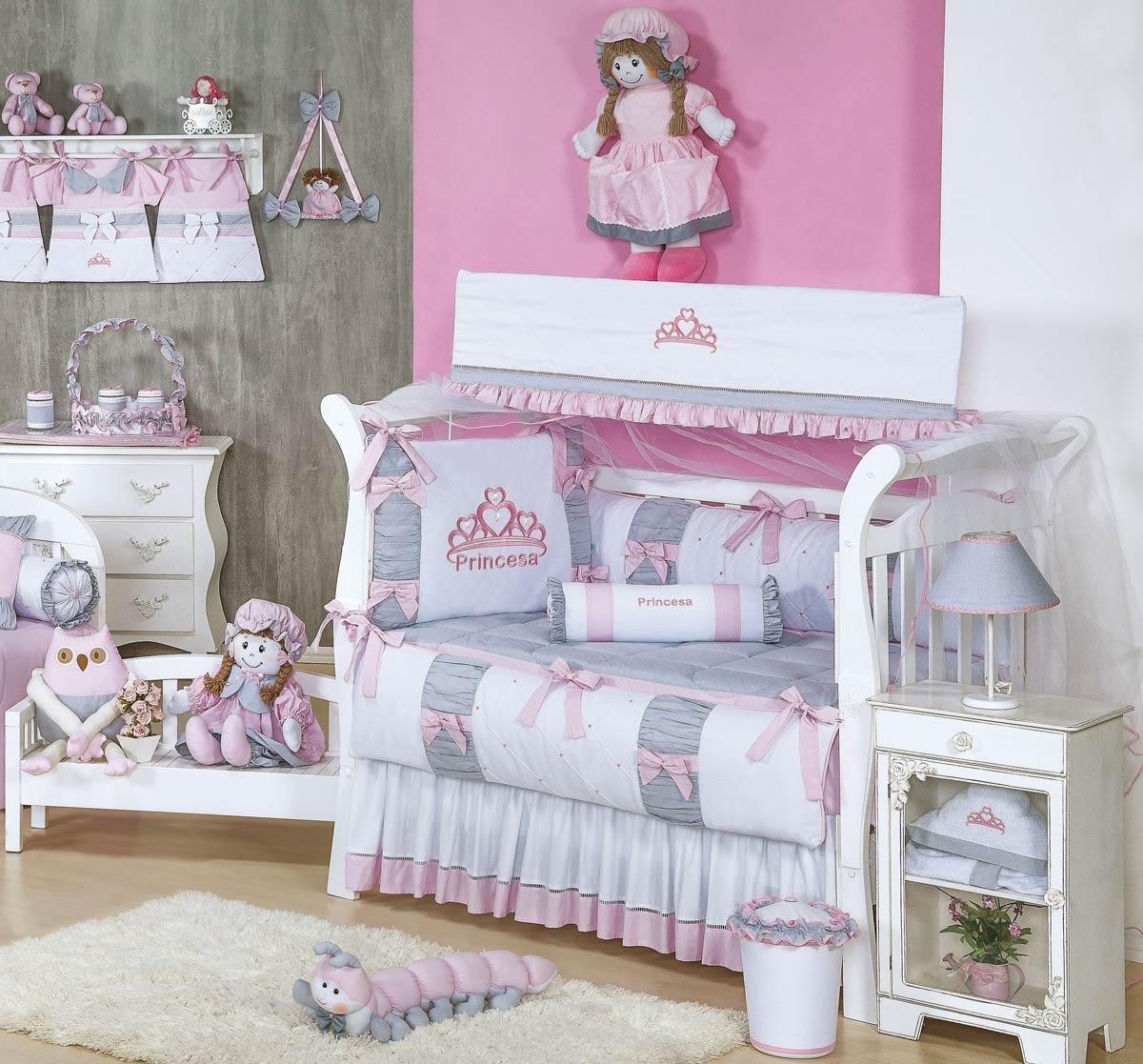 Coleção Completa Padrão Americano Coleção Princesa Kids - 25 Peças - 100% Algodão 180 Fios - Rosa
