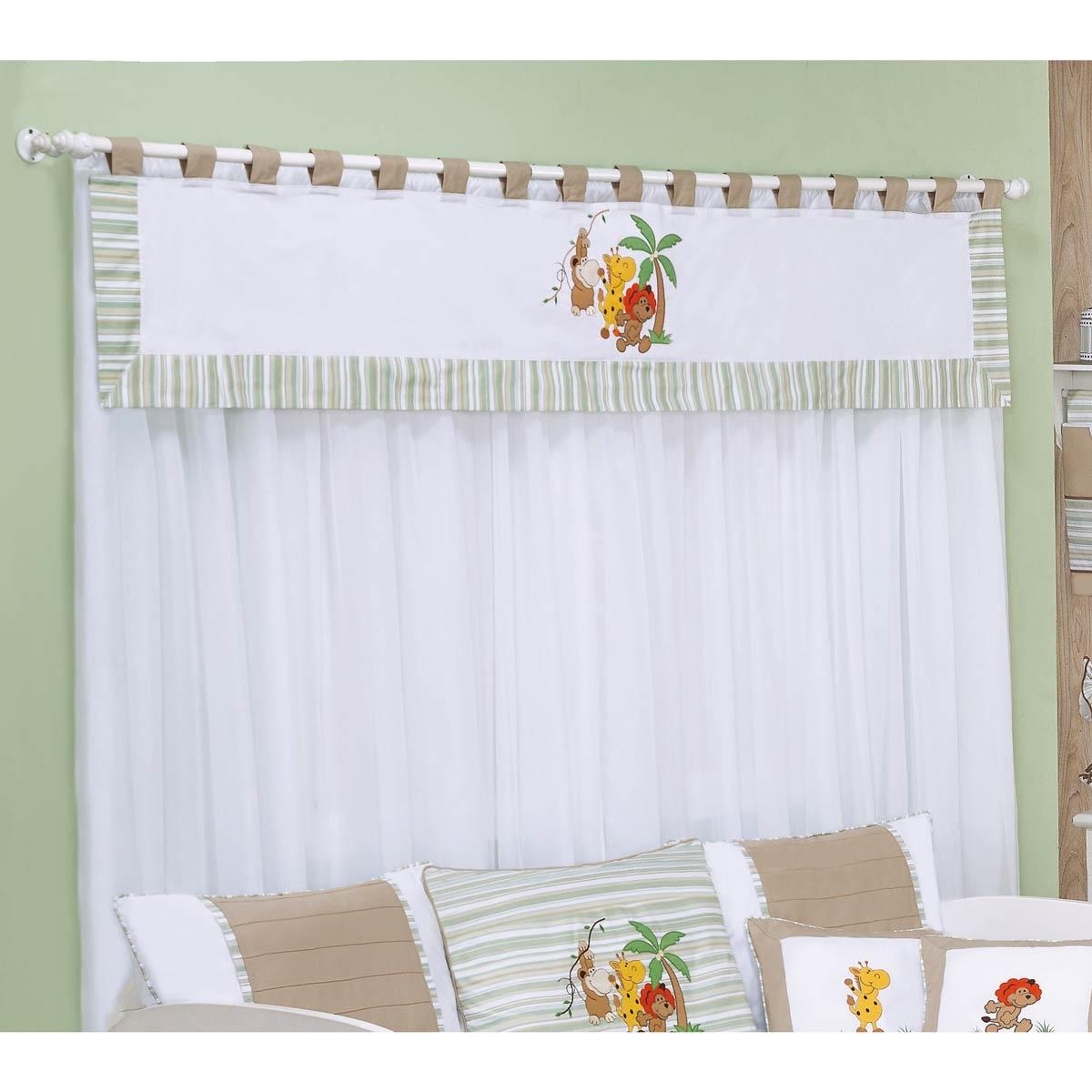 Cortina para quarto de beb listrado cortina para quarto - Cortinas para bebes ...