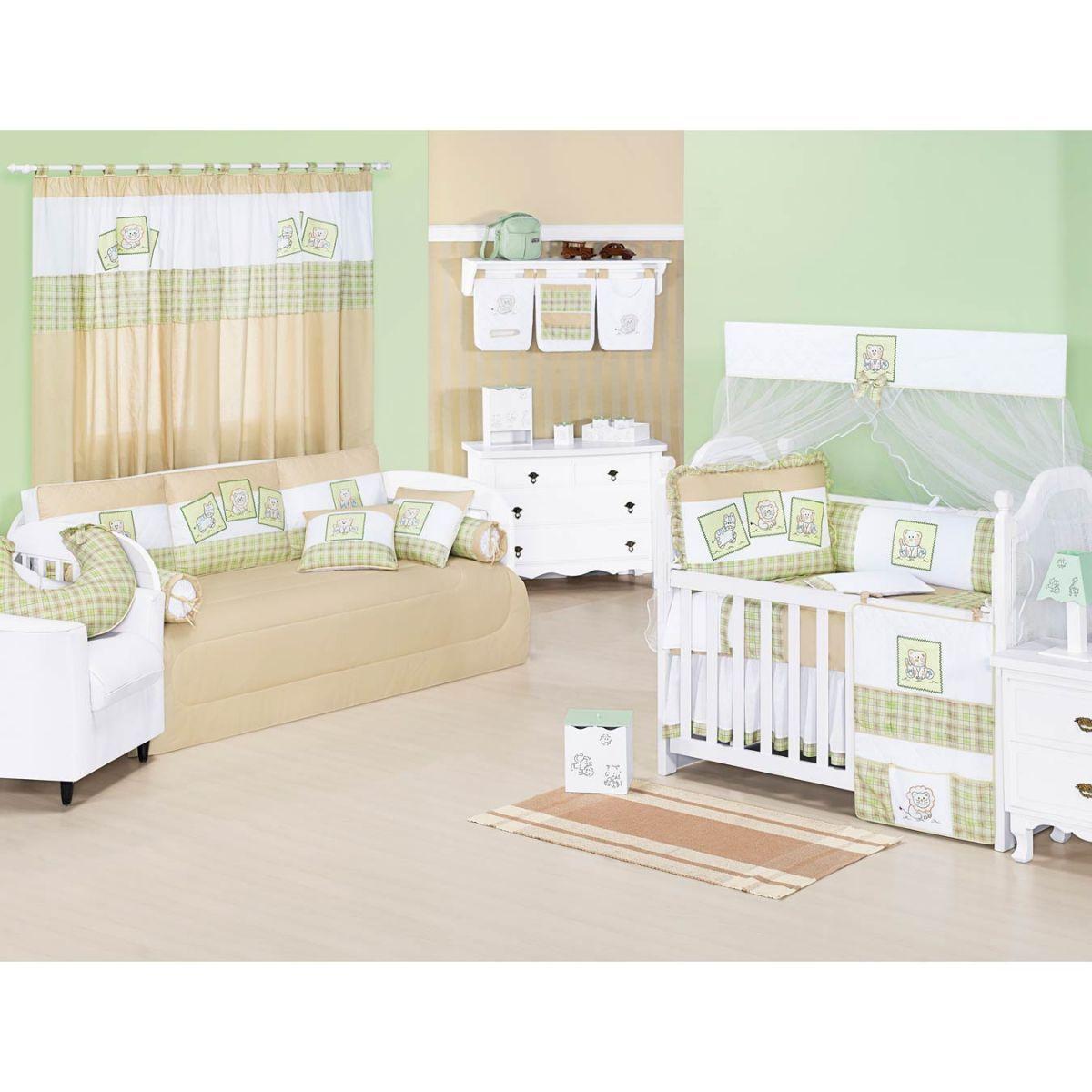 Porta Objetos de Varal para Bebê Coleção New Baby Animais - Verde