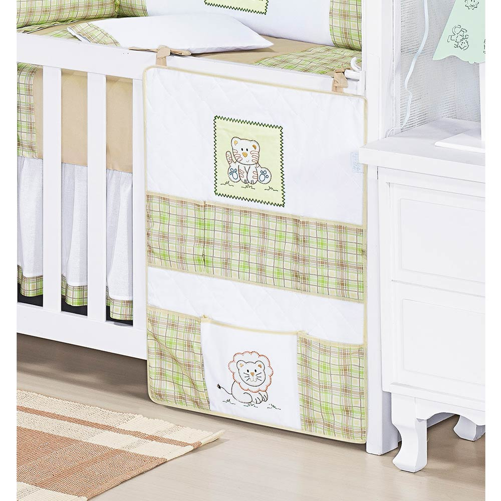Porta Objetos para Berço de Bebê Coleção New Baby Animais - Verde