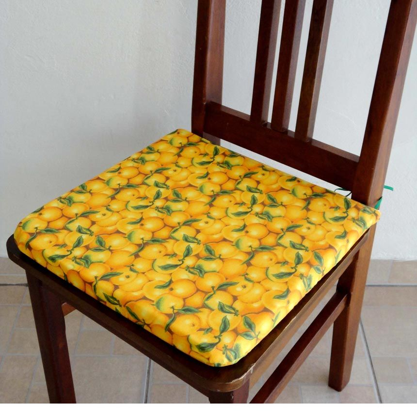Assento para Cadeira Estampado - Laranjinhas