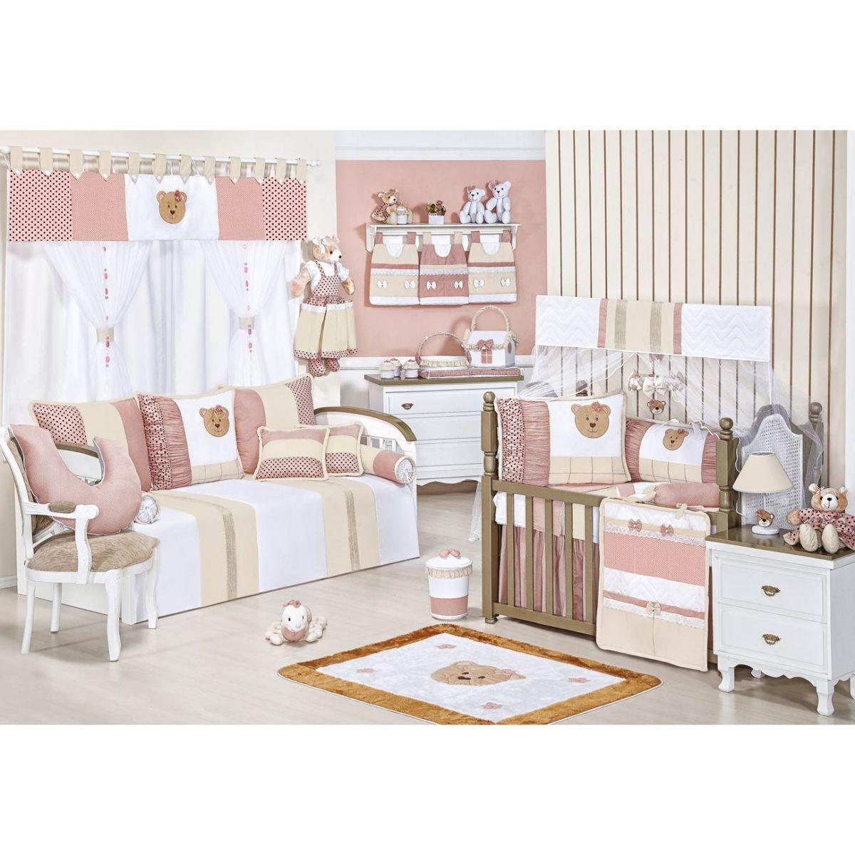 Coleção Completa para Quarto de Bebê Aurora 100% Algodão - 24 Peças
