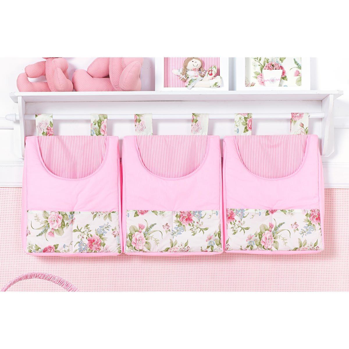 Porta Fraldas de Varão - Coleção Garden Flowers Rosa